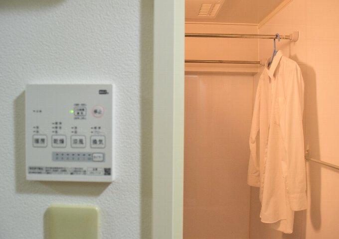 浴室乾燥機で干すと家事動線(洗濯動線)が短くなる