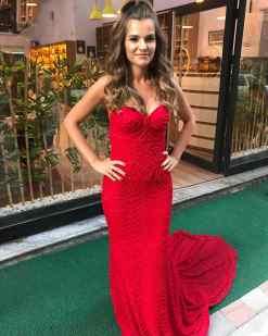 Barrus London Kırmızı Nişan Elbisesi Kiralık
