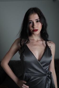 ElbiseKirala Collection Antrasit Rengi Elbise