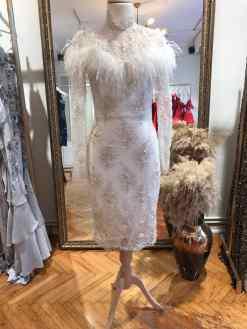 Elif Şimal Beyaz Kiralık Elbise