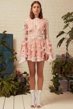 Raisa & Vanessa Kiralık Pembe Elbise