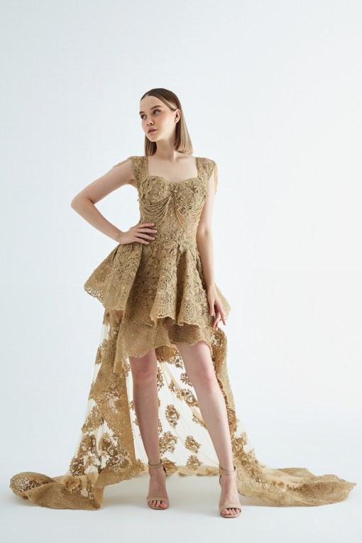 Sagaza Gold Kına Elbisesi
