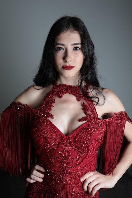 Sagaza Madrid Kiralık Kırmızı Mini Kına Elbisesi