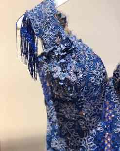Sagaza Madrid Kiralık Mavi Mini Elbise