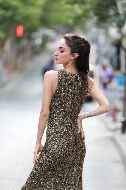 Theia Payet İşlemeli Kiralık Gece Elbisesi