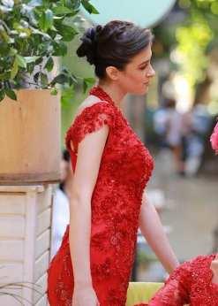 Özel Tasarım Kırmızı Kına Elbisesi ve Abiye Modelleri
