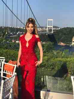 SM Kiralık Kırmızı Kına Elbisesi