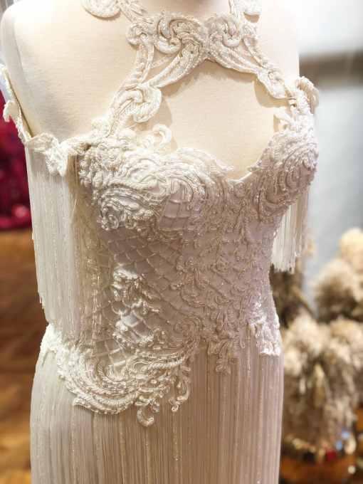 Sagaza Madrid Beyaz Mini Kiralık Elbise