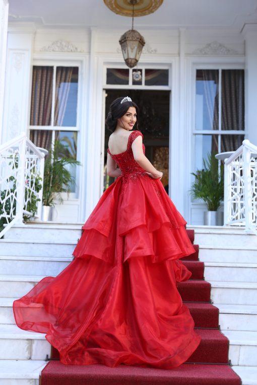 Kırmızı Kiralık Kına Elbisesi Modelleri