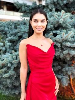 Alfabeta Kırmızı Gece Elbisesi