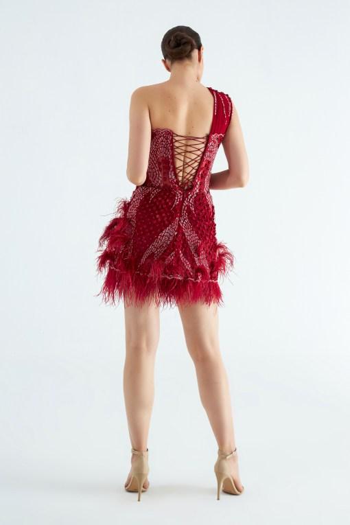 Sagaza Mini Kırmızı Elbise