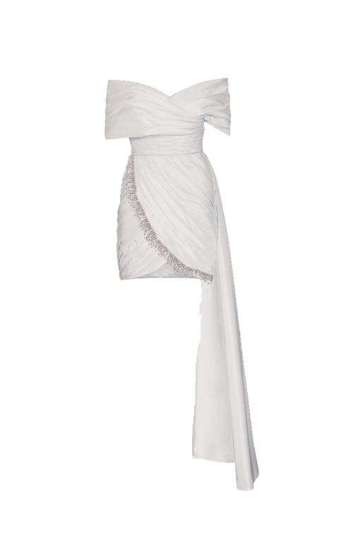 Ju Istanbul Beyaz Kiralık Elbise