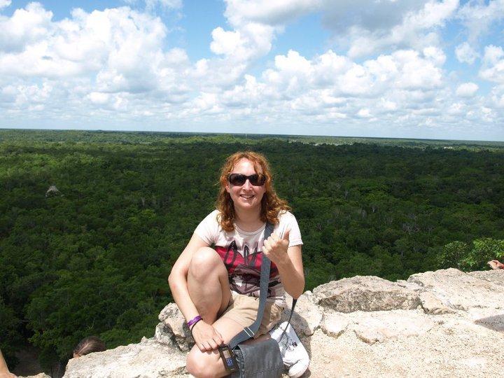 Vista desde lo alto de la pirámide de Coba - Mexico