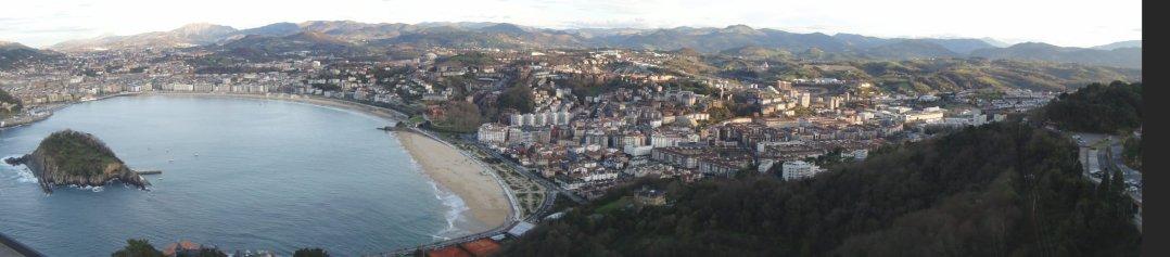 Una gran vista de San Sebastián