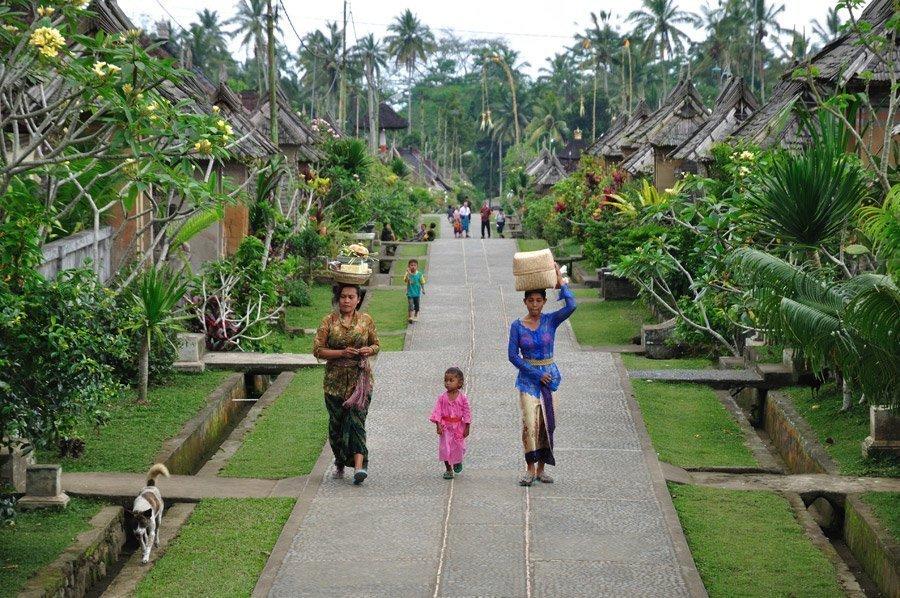 Aldea tradicional en Bali