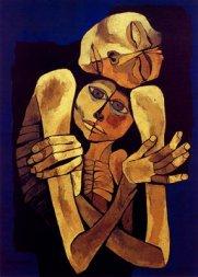"""""""La Ternura"""", de Osvaldo Guayasamín, es un homenaje de amor a su madre, a las madres, como símbolo de defensa de la vida. Similar a la Protección Social y a la Cobertura Universal de Salud"""