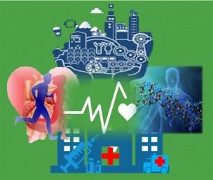Visión esquemática de los cuatro determinantes sociales de la salud: los estilos de vida, el ambiente, los servicios de salud y la biología humana