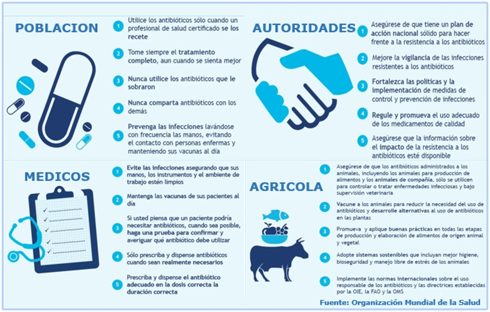 Recomendaciones para evitar la resistencia a los antibioticos