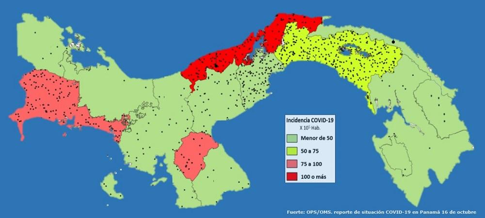 Lugares con mayor y menor riesgo de transmisión del COVID-19