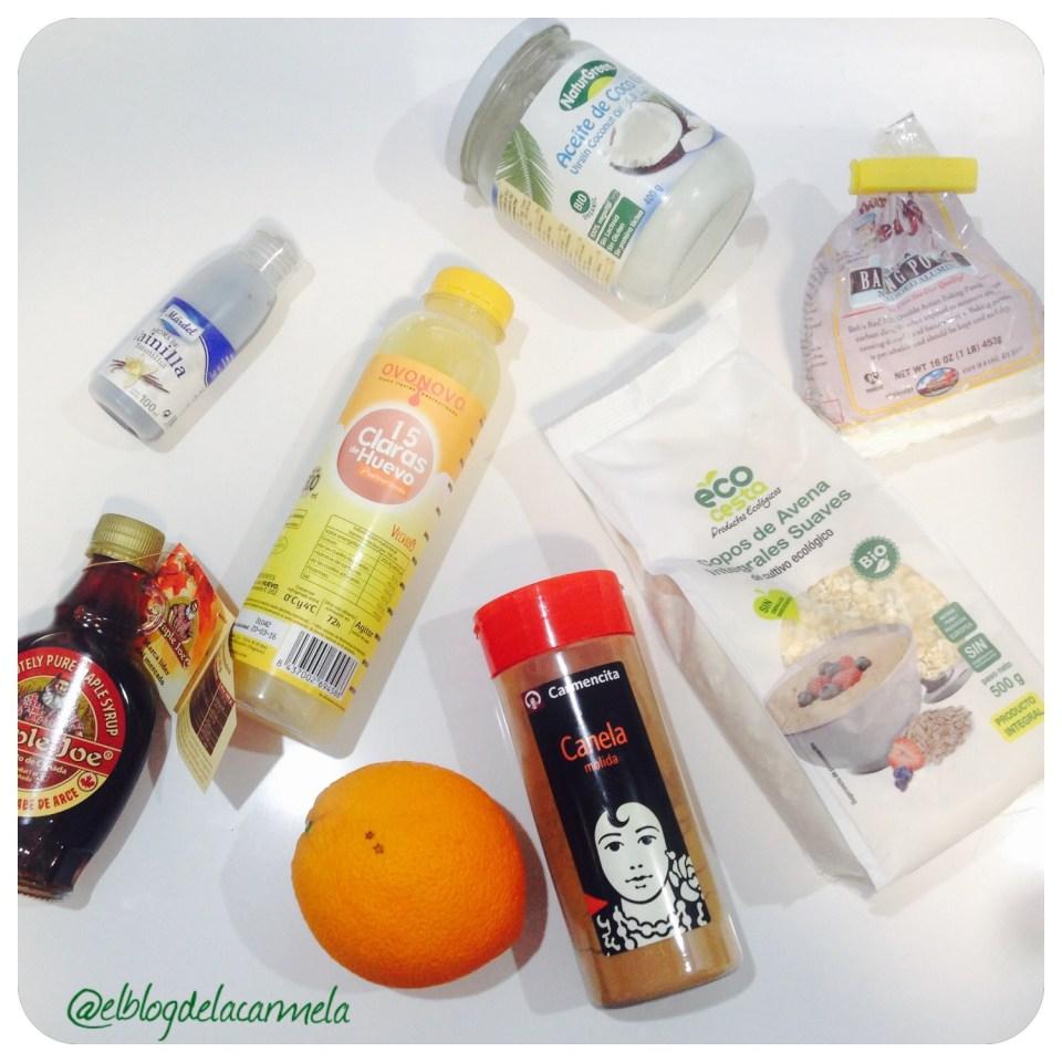 ingredientes bizcocho de naranja y claras