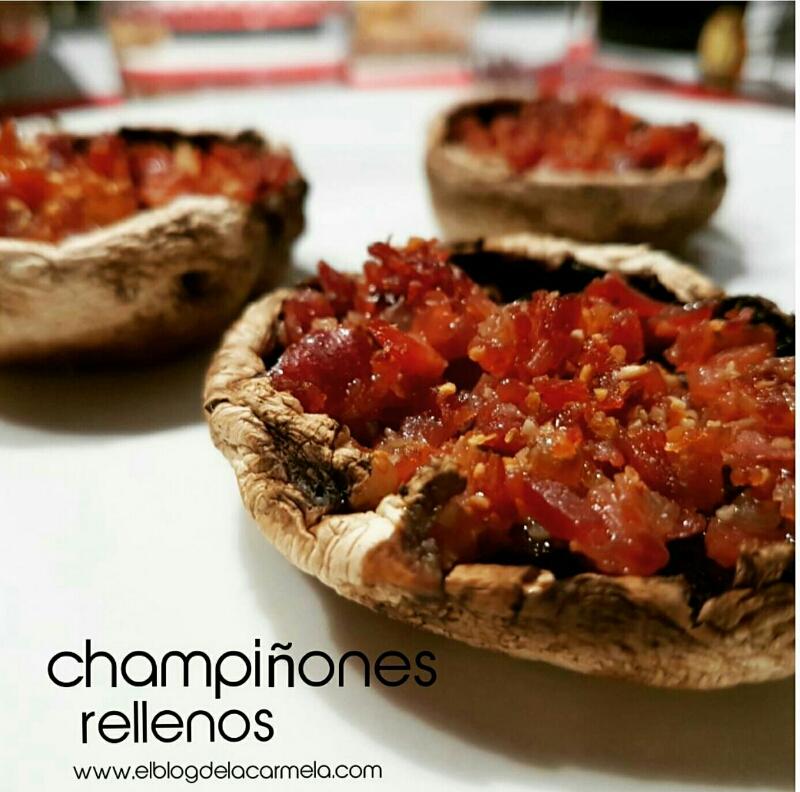 receta de champiñones rellenos de jamón