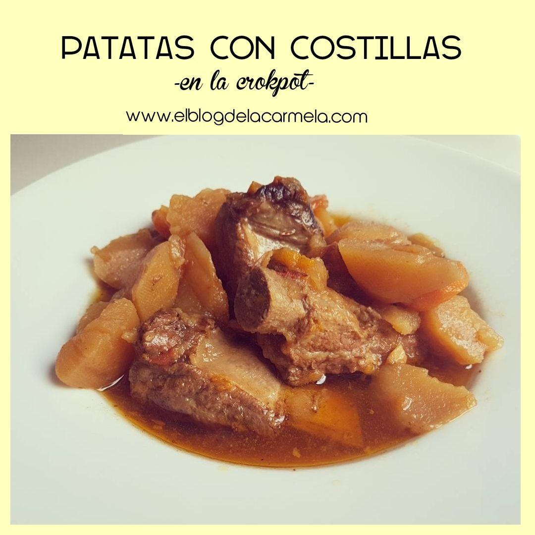 Patatas con costillas de cerdo ibéricas en la crock pot: Aquí el NIVEL PRO de las patatas guisadas oigaaaaa👏👏👏👏