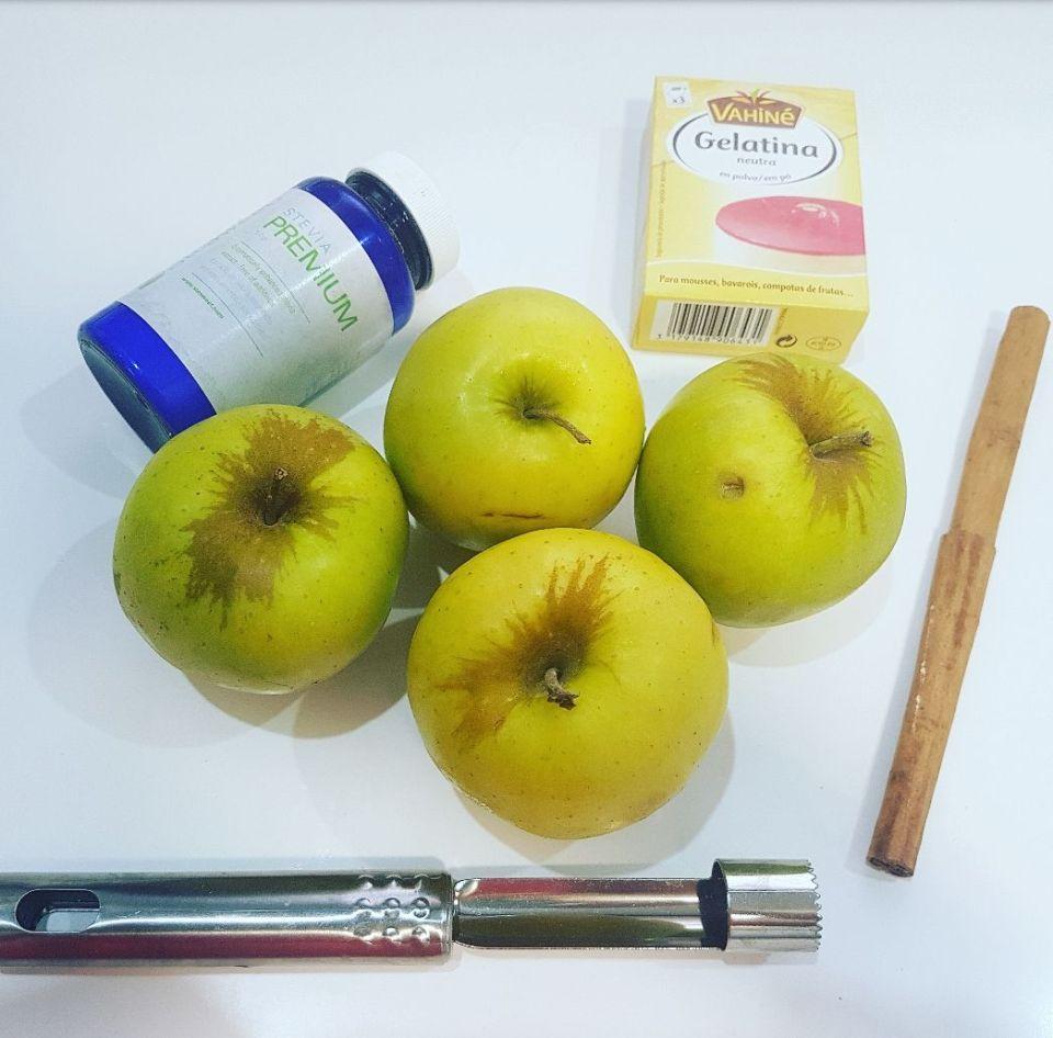 ingredientes de dulce de manzanas sin azúcar