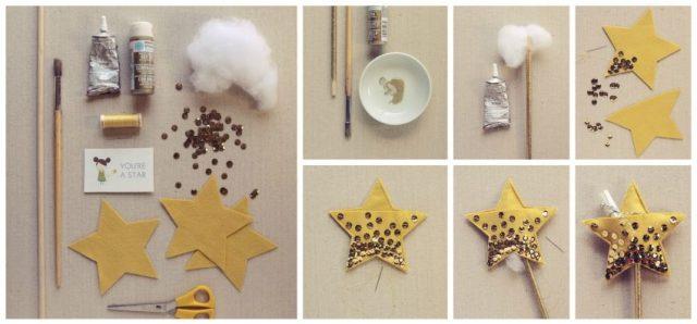 DIY   Varita mágica con forma de estrella