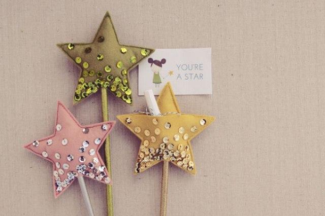 DIY | Varita mágica con forma de estrella