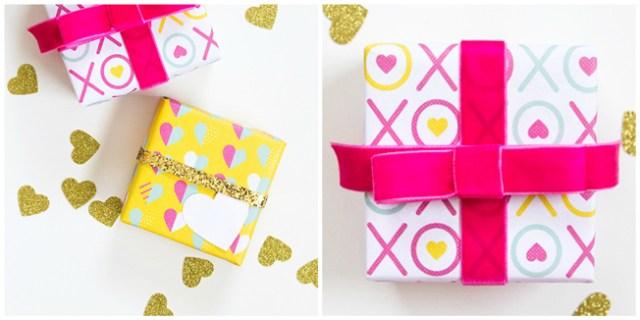 IMPRIMIBLE | Postal, papel de regalo y guirnalda de San Valentín