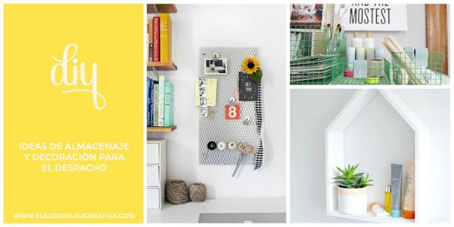 ideas despacho DIY Ideas De Almacenaje Y Decoracin Para El Despacho El