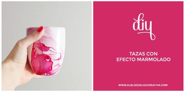 10 diy y manualidades para niños fáciles - Tazas efecto mármol con pintauñas