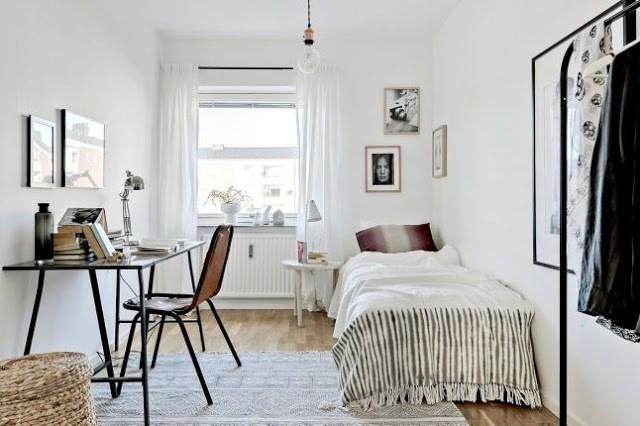 DECO | Un luminoso piso nórdico decorado en blanco