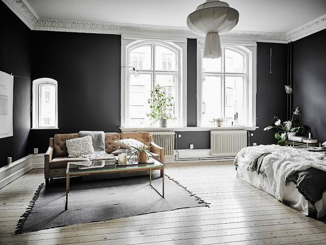 DECO   Pintar las paredes en colores oscuros también son una buena ...
