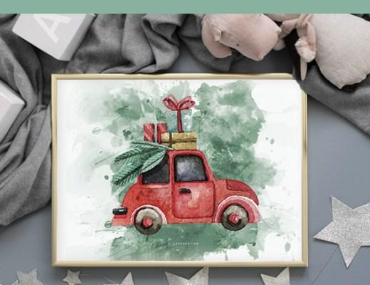 IMPRIMIBLE | Descarga gratis la lámina navideña más bonita del mundo-El blog de Laucreativa