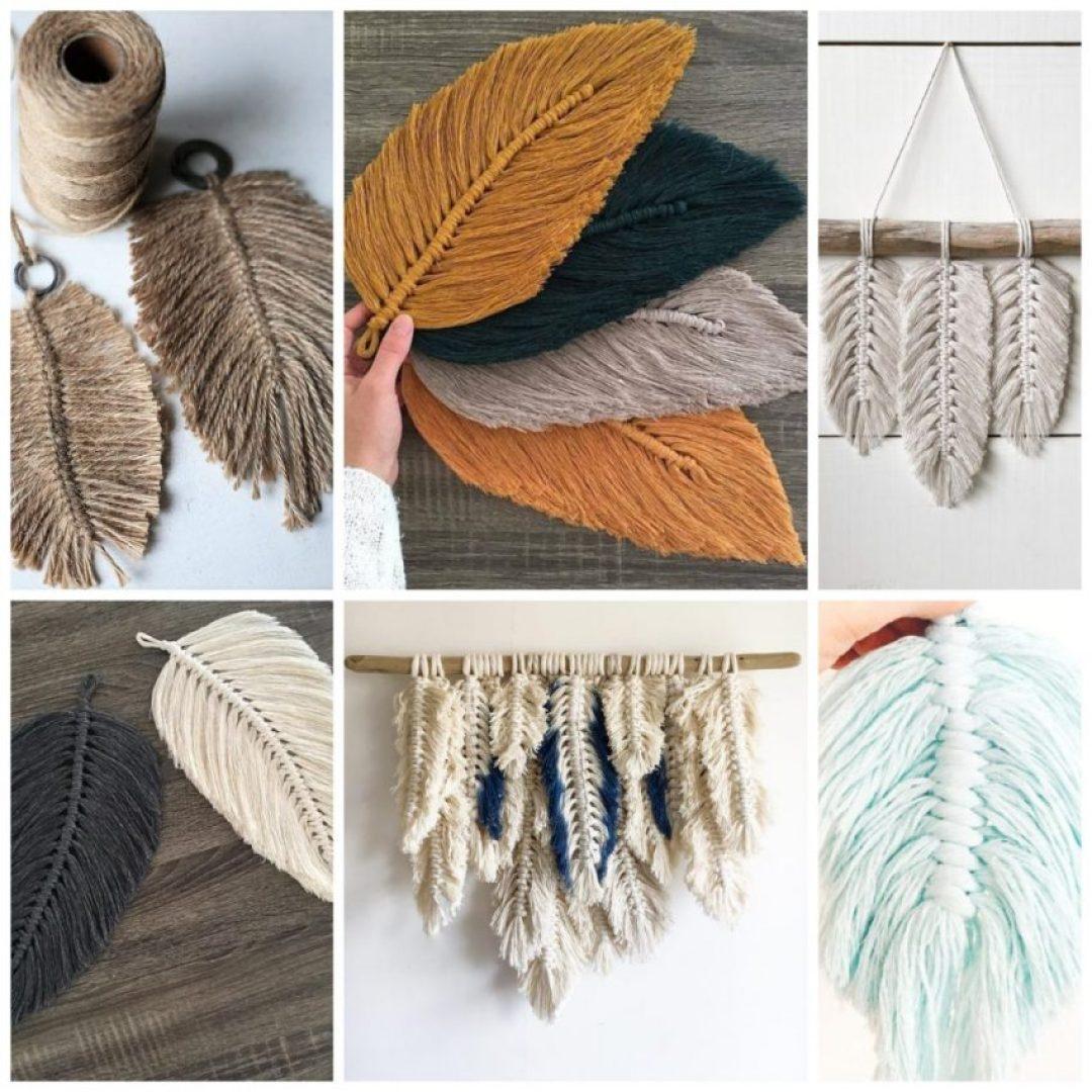 DIY | Haz unas bonitas plumas de macramé