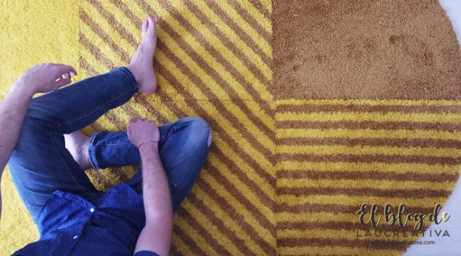 EL-BLOG-DE-LAUCREATIVA-decoracion-alfombras-ikea-salon-SJÄLVSTÄNDIG-amarillo-