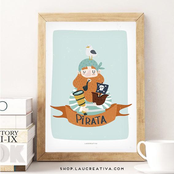 Lámina_Poster-habitacion-infantil-pirata-ilustracion-_Laucreativa_0