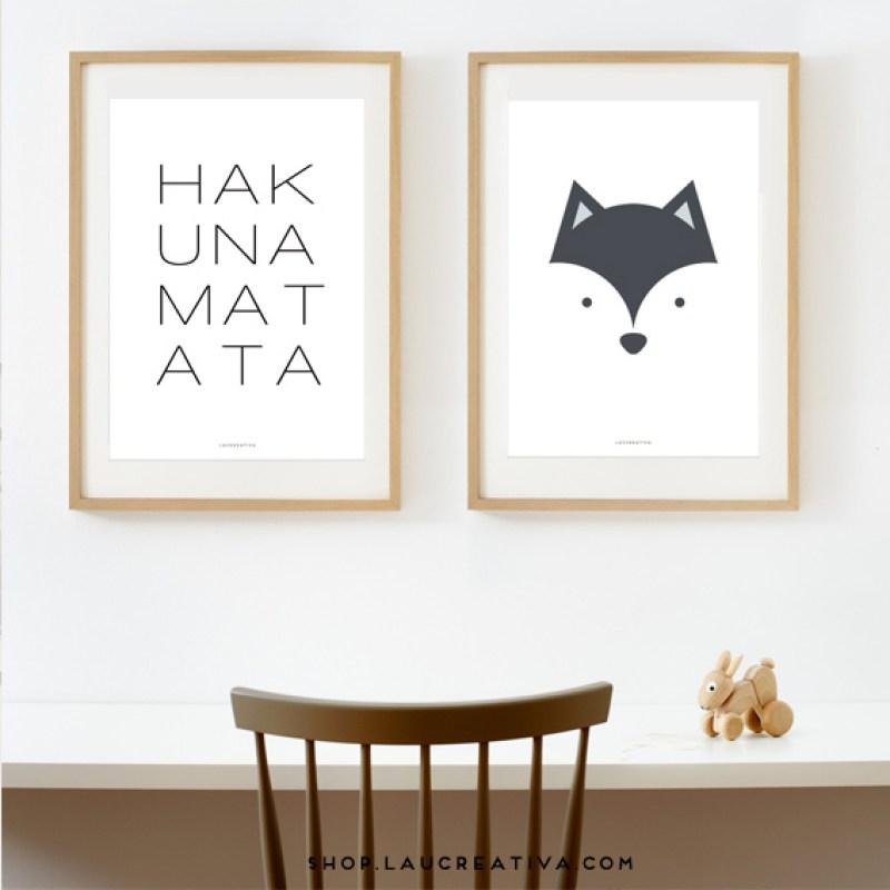 laminas-poster-nordic-design-hakunamatata-Laucreativa