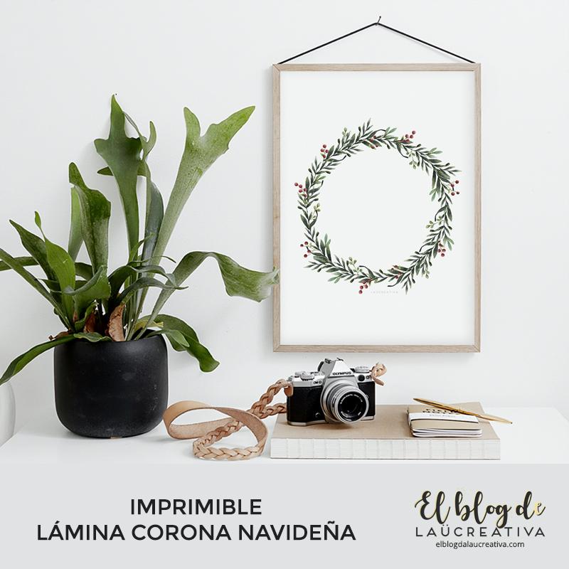 IMPRIMIBLE   Descarga nuestra lámina de una corona de Navidad-El blog de Laucreativa