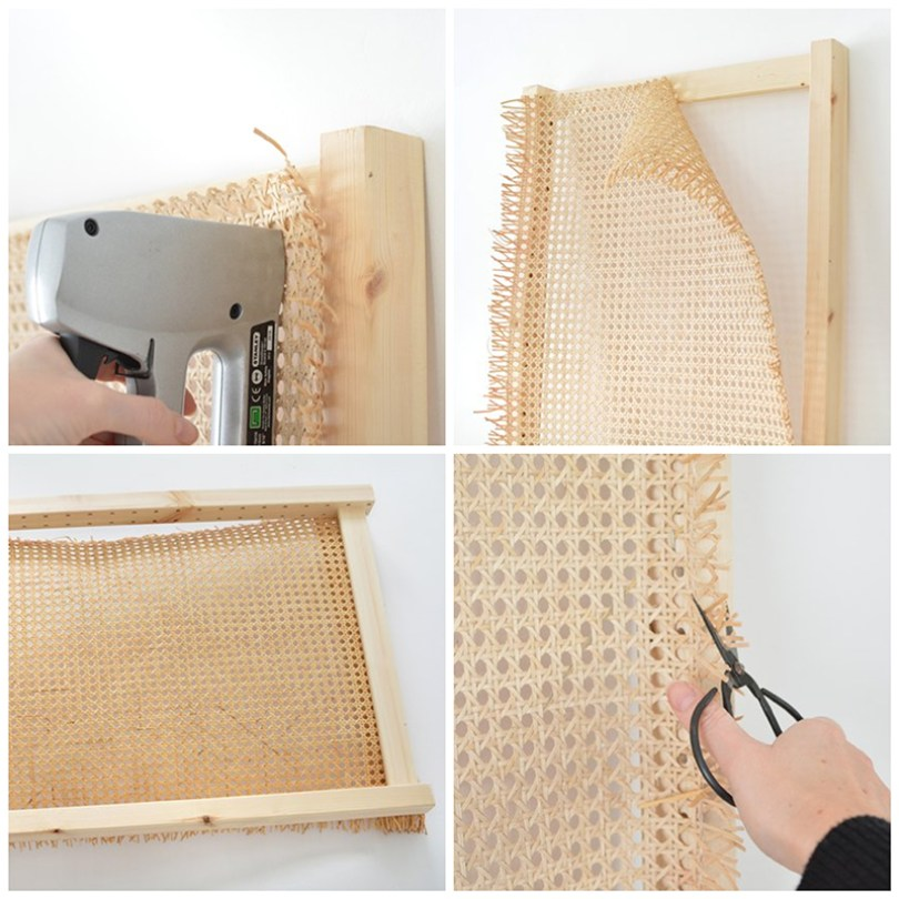 IKEA HACK | Un cabecero con cannage y un panel IVAR - El blog de Laucreativa