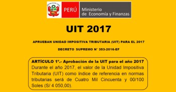 UIT 2017: S/4,050.00 - REPERCUSIÓN