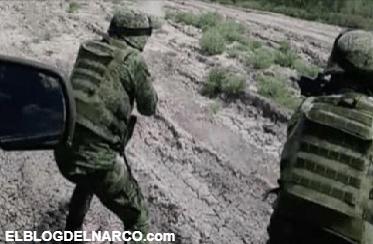 Así captaron enfrentamiento entre militares y sicarios