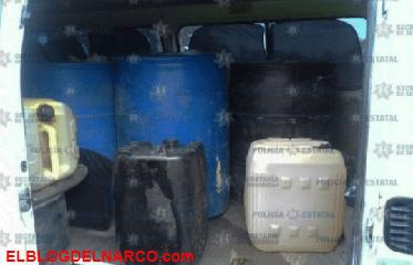 Capturan a huachicolero con más de 900 litros de gasolina en Teotihuacán.