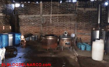 Decomisan 45 kilos de 'cristal' en narcolaboratorio en Jalisco