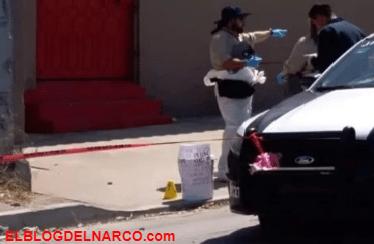 Dejan cubeta con restos humanos y narcomensaje en la Avenida Internacional en Tijuana