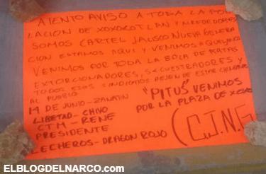 Estamos aquí y venimos por toda la bola de ratas, CJNG deja narcomensaje en kinder de Oaxaca