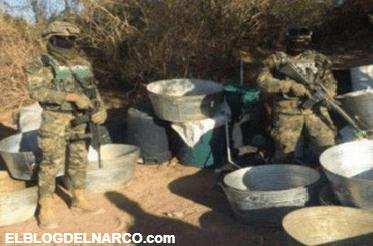 La Marina arrebata narcolaboratorio al Cártel de Sinaloa