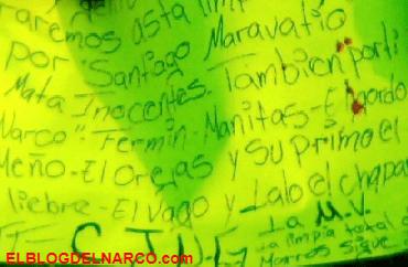 Sicarios del CJNG dejan restos humanos junto a narcomensaje en Guanajuato.