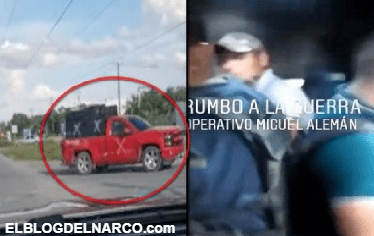 Adentro del pinche monstruo Sicarios del CDG viajando en blindado rumbo a Miguel Alemán, Tamaulipas (VÍDEO)